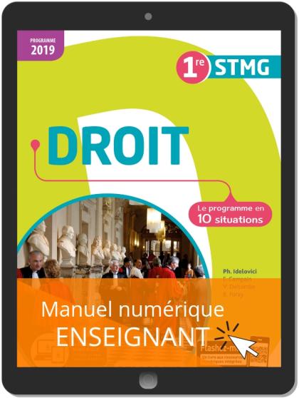 Droit 1re STMG (2019) - Pochette - Manuel numérique enseignant