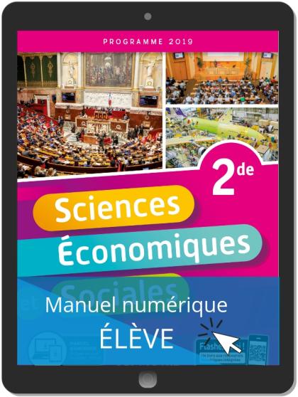 Sciences Économiques et Sociales 2de (2019) - Pochette - Manuel numérique élève