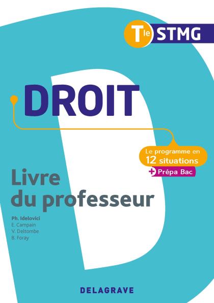Droit Tle STMG (2020) - Pochette - Livre du professeur