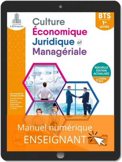 Culture économique, juridique et managériale (CEJM) 1re année BTS (2020) - Pochette - Manuel numérique enseignant
