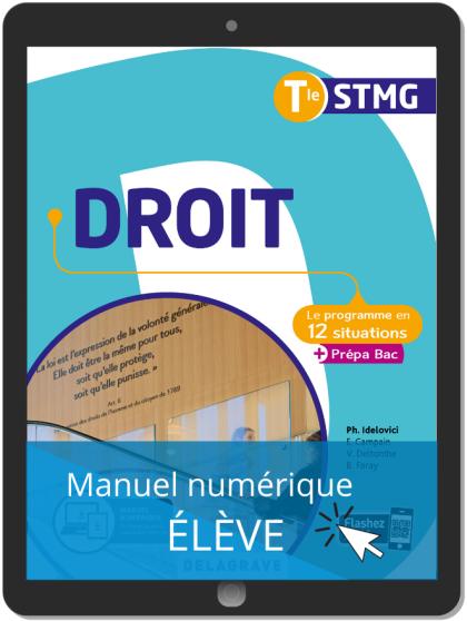 Droit Tle STMG (2020) - Pochette - Manuel numérique élève
