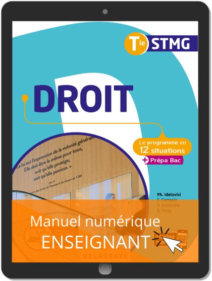 Droit Tle STMG (2020) Pochette - Manuel numérique enseignant