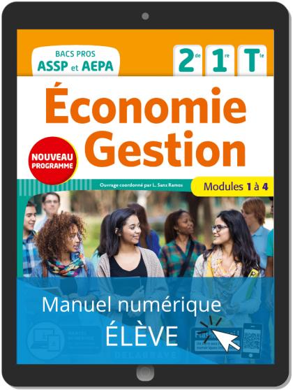Économie-Gestion 2de, 1re, Tle Bac Pro ASSP et AEPA (2020) - Pochette - Manuel numérique élève
