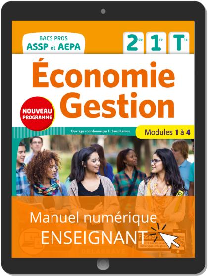 Économie-Gestion 2de, 1re, Tle Bac Pro ASSP et AEPA (2020) - Manuel numérique enseignant