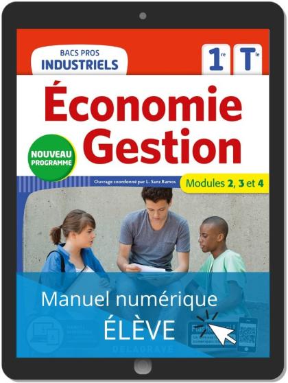 Économie-Gestion 1re, Tle Bacs Pros Industriels (2020) - Manuel numérique élève