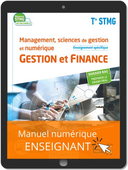 Management, sciences de gestion et numérique - Gestion et Finance enseignement spécifique Tle STMG (2020) Pochette - Manuel numérique enseignant