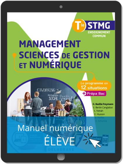 Management, Sciences de gestion et numérique Tle STMG (2020) - Pochette - Manuel numérique élève