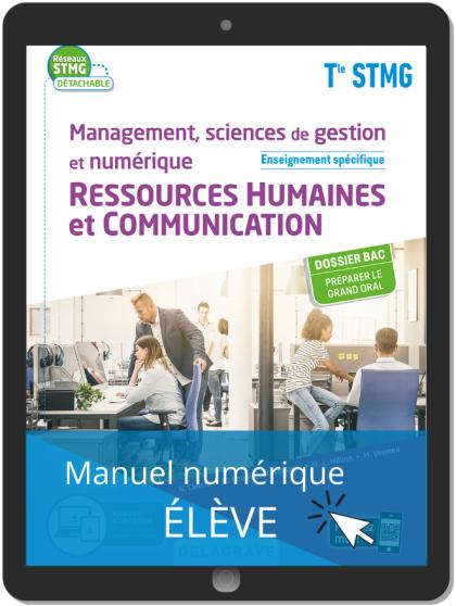 Management, sciences de gestion et numérique - Ressources Humaines et communication enseignement spécifique Tle STMG (2020) Pochette - Manuel numérique élève