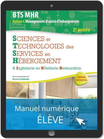 Sciences et Technologies des Services en hébergement 2e année BTS MHR (2020) - Pochette - Manuel numérique élève