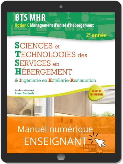 Sciences et Technologies des services en hébergement 2e année BTS MHR (2020) - Manuel numérique enseignant