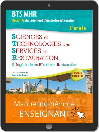 Sciences et Technologies des services en restauration (STSR) 2e année BTS MHR (2020) - Manuel numérique enseignant