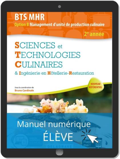 Sciences et Technologies Culinaires (STC) 2e année BTS MHR (2020) - Pochette - Manuel numérique élève