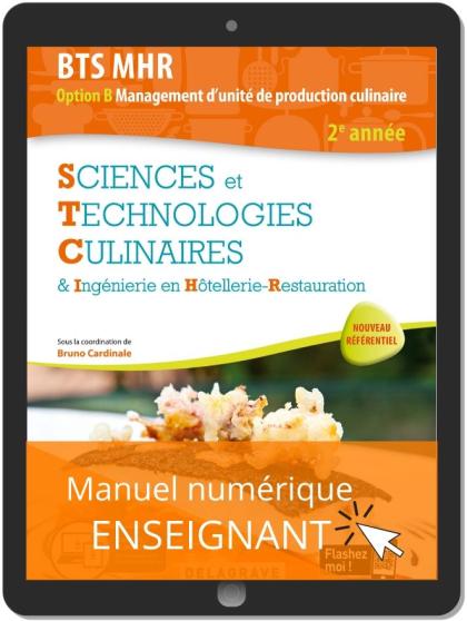 Sciences et Technologies Culinaires (STC) 2e année BTS MHR (2020) - Pochette - Manuel numérique enseignant