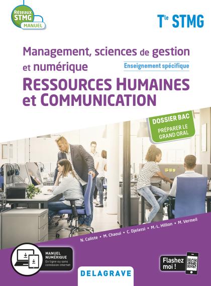 Management, Sciences de gestion et numérique - Ressources Humaines et communication enseignement spécifique Tle STMG (2020) - Manuel élève