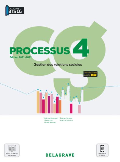 Processus 4 - Gestion des relations sociales BTS Comptabilité Gestion (CG) (2021) - Pochette élève