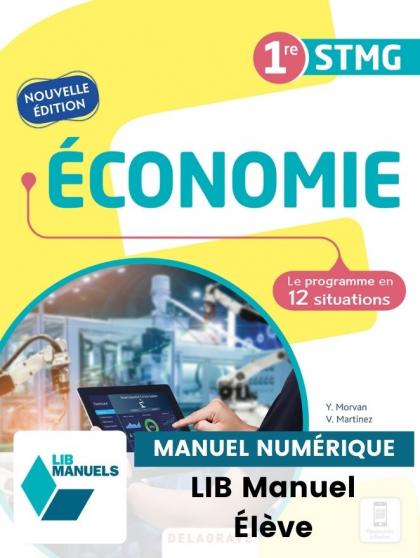 Économie 1re STMG (2021) - Pochette - Manuel numérique élève