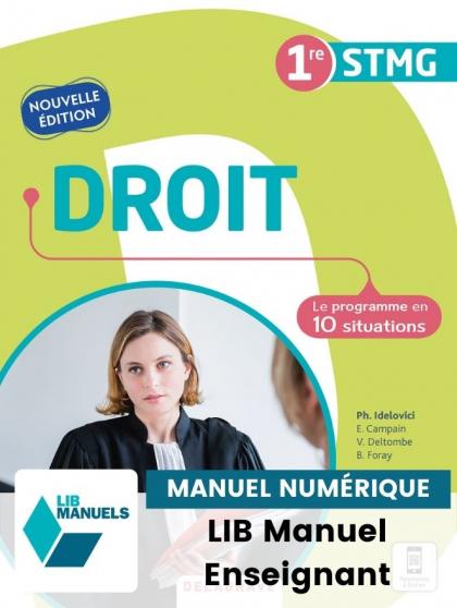 Droit 1re STMG (2021) - Pochette - Manuel numérique enseignant