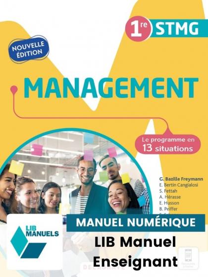 Management 1re STMG (2021) - Pochette - Manuel numérique enseignant