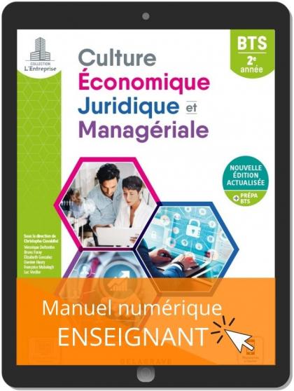 Culture économique, juridique et managériale (CEJM) 2e année BTS (2021) - Pochette - Manuel numérique enseignant