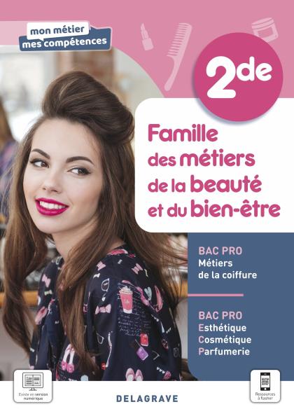 Famille des métiers de la beauté et du bien-être, 2de Bac Pro ECP et Métiers de la coiffure (2021) - Pochette élève