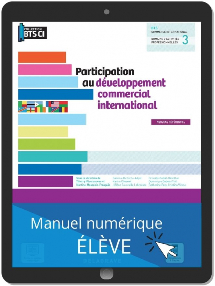 Participation au développement commercial international, BTS Commerce international (2021) - Pochette - Manuel numérique élève