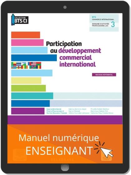Participation au développement commercial international, BTS Commerce international (2021) - Pochette - Manuel numérique enseignant