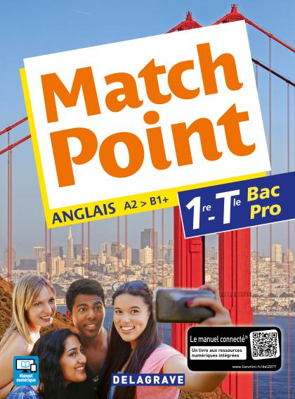 Match Point 1re, Tle Bac Pro (2017) - Pochette élève
