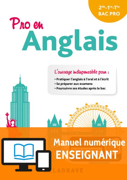 Pro en Anglais (2018) - Pochette - Manuel Numérique Enseignant