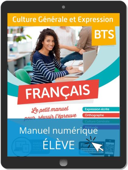Français - Culture Générale et Expression (2019) - Pochette - Manuel numérique élève