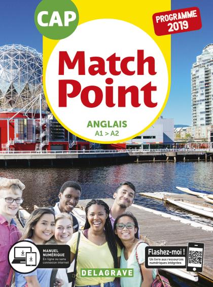 Match Point Anglais CAP (2019) - Pochette élève