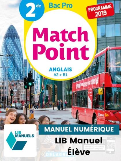 MatchPoint Anglais 2de Bac Pro (2019) - Pochette - Manuel numérique élève
