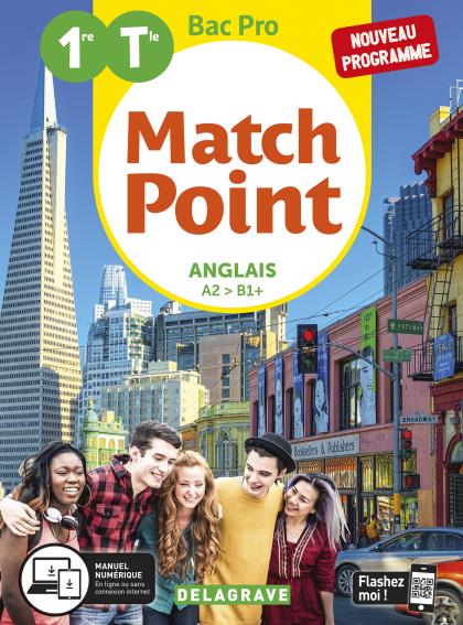 MatchPoint Anglais 1re, Tle Bac Pro (2020) - Pochette élève