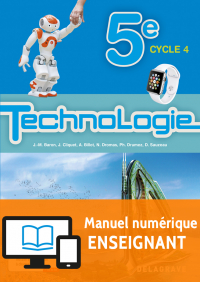 Bimanuel Technologie 5e (2017) - Manuel numérique enseignant