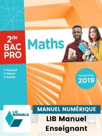 Maths 2de Bac Pro (2019) - Manuel numérique enseignant