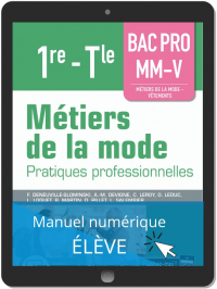 Métiers de la mode 1re, Tle Bac Pro MM-V (2019) - Pochette - Manuel numérique élève