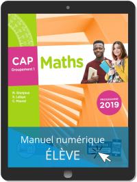 Maths CAP Groupement 1 (2019) - Pochette - Manuel numérique élève