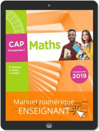 Maths CAP Groupement 1 (2019) - Manuel numérique enseignant