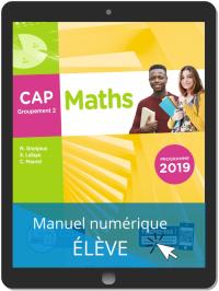 Maths CAP Groupement 2 (2019) - Pochette - Manuel numérique élève
