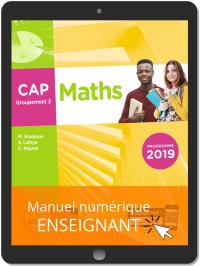 Maths CAP Groupement 2 (2019) - Pochette - Manuel numérique enseignant