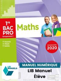 Mathématiques - Groupement C - 1re Bac Pro (Ed. num. 2021) - Pochette - Manuel numérique élève