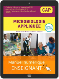 Microbiologie appliquée CAP APH, PSR, ATMFC (2021) - Pochette - Manuel numérique enseignant