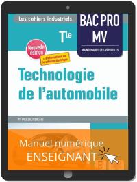 Technologie de l'automobile Tle Bac Pro MV (2021) - Pochette - Manuel numérique enseignant