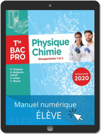 Physique - Chimie Tle Bac Pro G1, G2 (2021) - Pochette - Manuel numérique élève