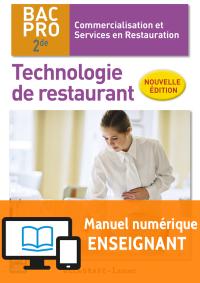 Technologie de restaurant 2de Bac Pro CSR NE (2016) - Manuel numérique enseignant