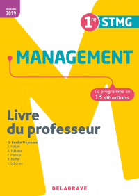 Management 1re STMG (2019) - Livre du professeur pochette
