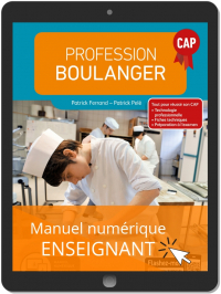 Profession Boulanger CAP (2019) - Manuel numérique enseignant