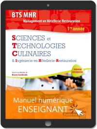 Sciences et Technologies Culinaires (STC), BTS MHR 1re Année (2019) - Manuel numérique enseignant