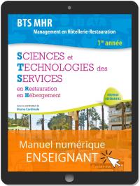 Sciences et Technologies des Services (STS), BTS MHR 1re année (2019) - Manuel numérique enseignant