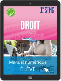 Droit 1re STMG (2019) Manuel - Manuel numérique élève