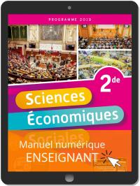 Sciences Économiques et Sociales (SES) 2de (2019) - Pochette - Manuel numérique enseignant